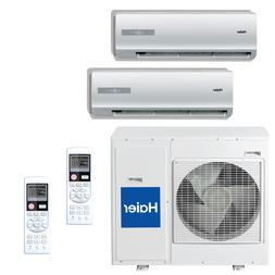 16 SEER Haier Ductless Dual Zone Multi Split Air Conditioner