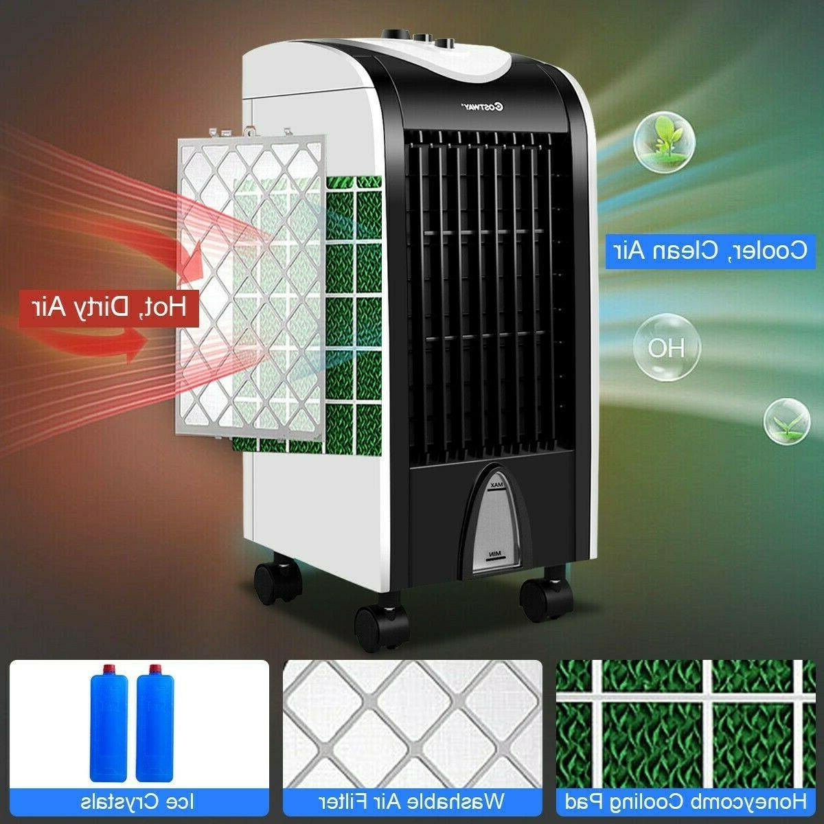 Evaporative Portable Air Cooler with Honeycomb Cooling