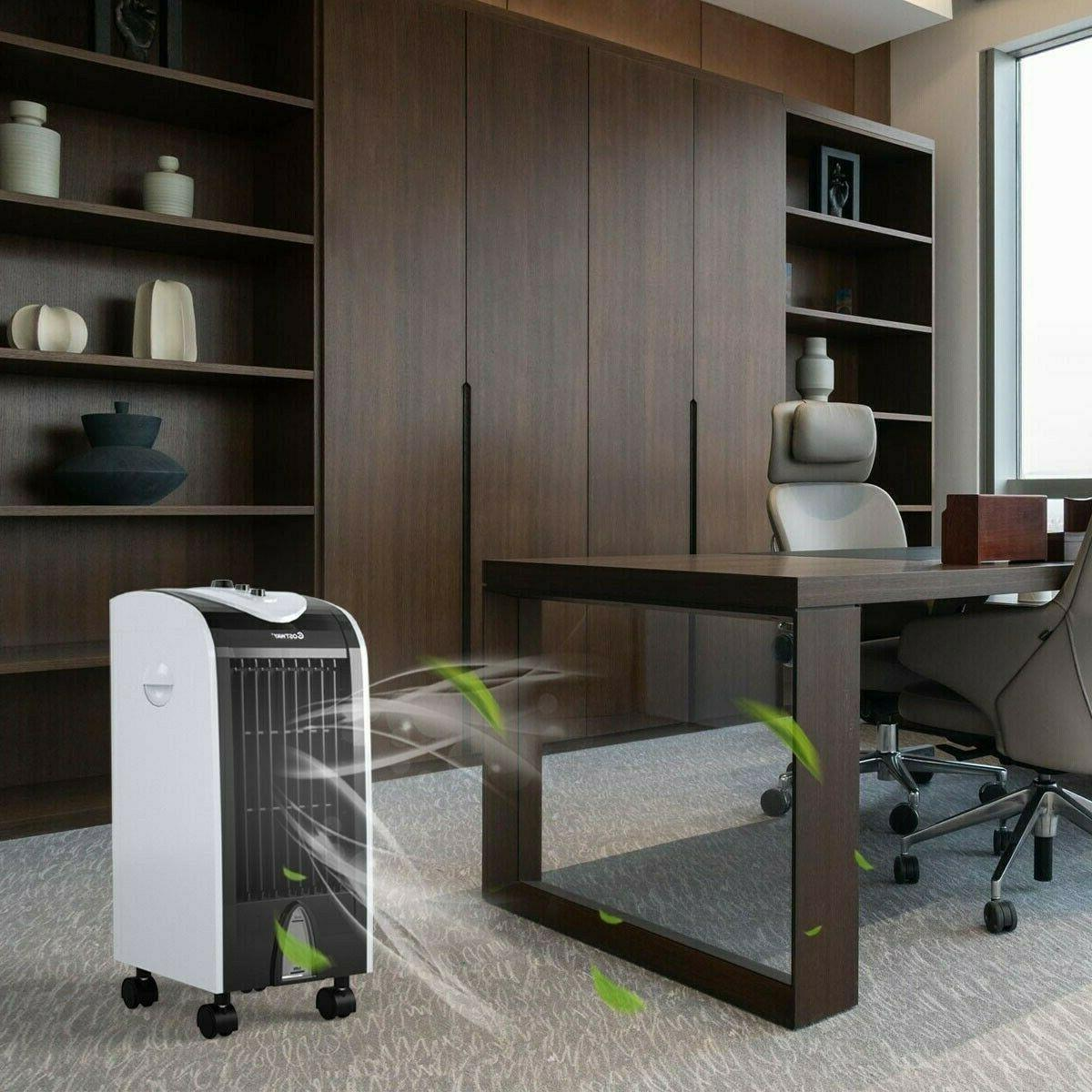 Evaporative Portable Cooler with Filter Honeycomb