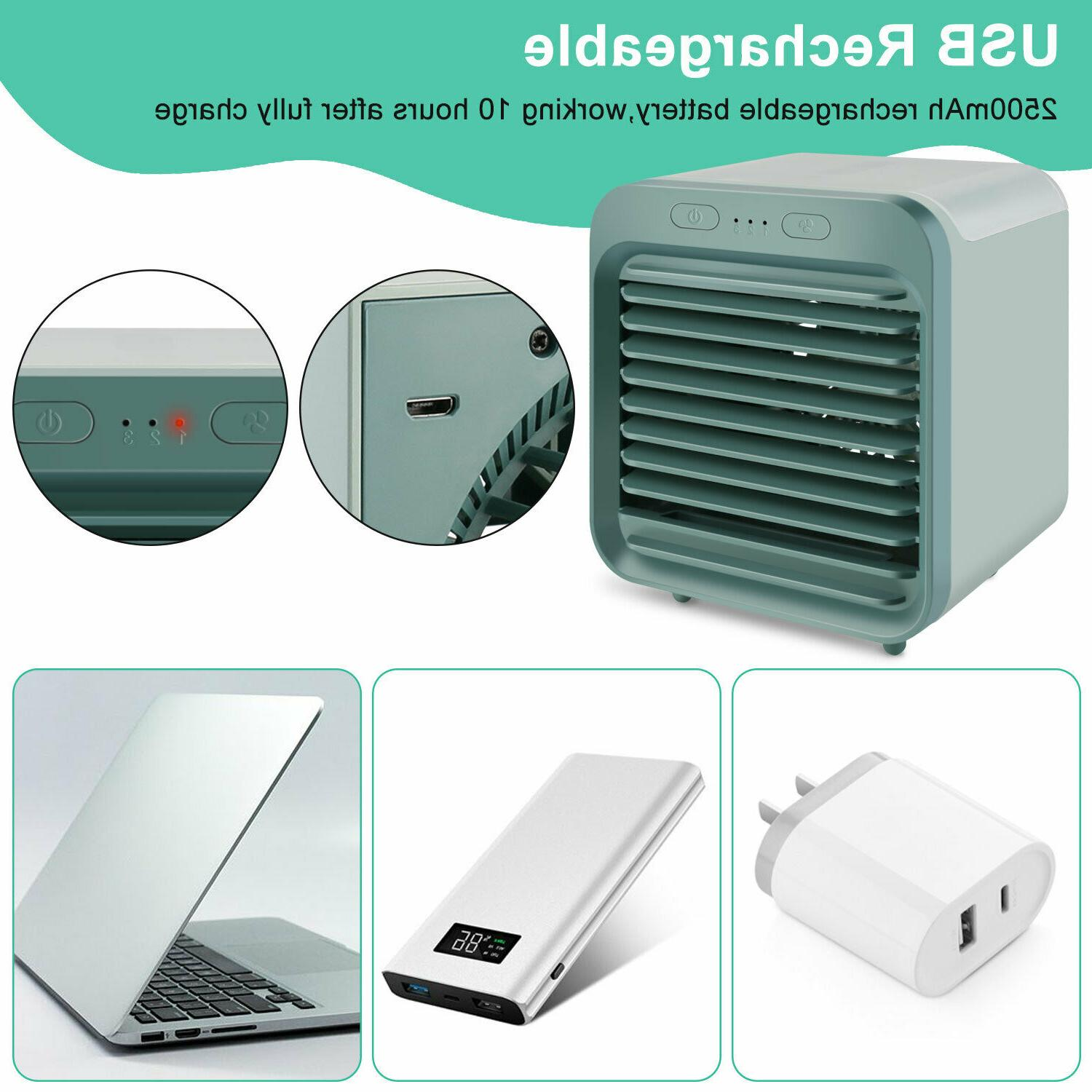 Portable Mini Air Conditioner Cooler Cooling Humidifier Purifier US