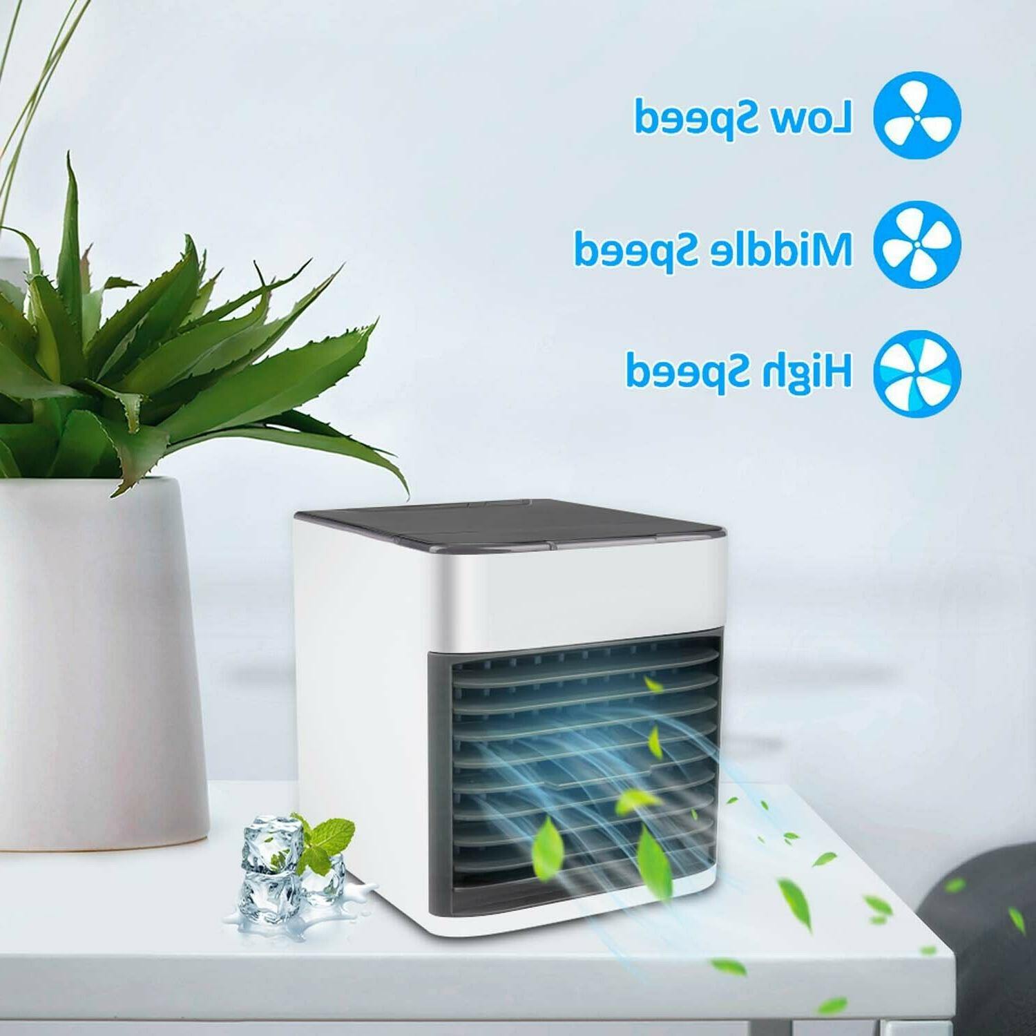 Personal Air Cooler Fan Portable 7 Colors LED Light for Home