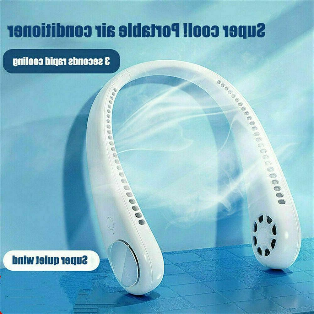 USB Portable Neck Fan Cooling Air Cooler Little Electric Air