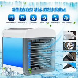 Mini Air Conditioner Fan Cool Bedroom Desk Portable Cooler C