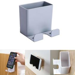 On Wall Adhesive Hanger Air Conditioner Storage Box Remote C