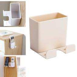 On Wall Air Conditioner Storage Box Adhesive Hanger Remote C