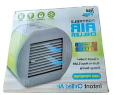 Portable Air Chiller With Led Color Changing Lights, USB Plu