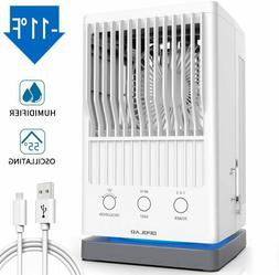Portable Air Conditioner Fan, Evaporative Air Cooler, USB Po