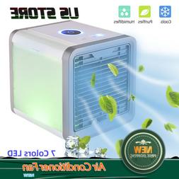 Portable Mini Desktop Air Conditioner USB Small Fan Cooling