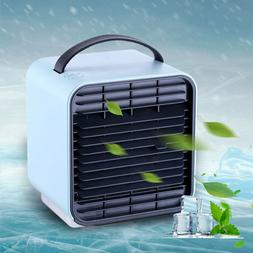 Portable USB Power Mini Air Conditioner Cool Cooling For Bed