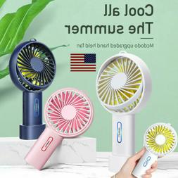 Protable USB Fan Rechargeable Battery Air Cooler Cooling Han