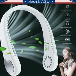 usb portable hanging neck fan cooling air